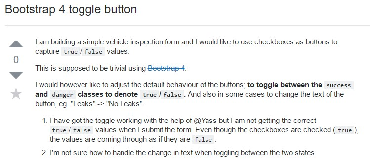 Bootstrap Toggle button
