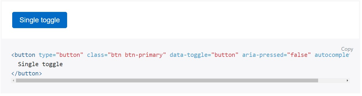 Toggle states  supplied  from Bootstrap buttons