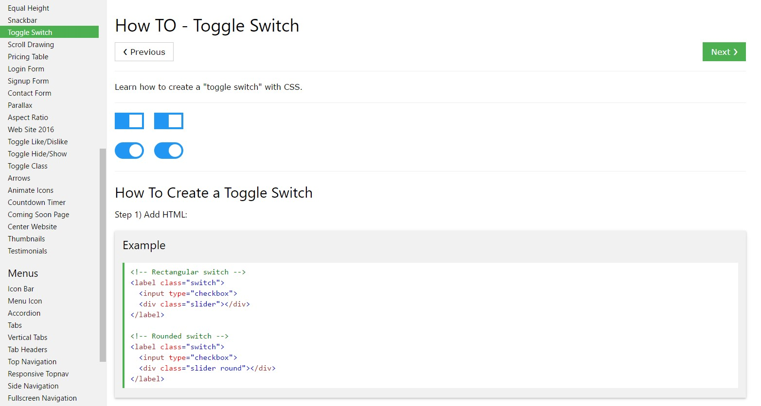 Tips on how to  set up Toggle Switch