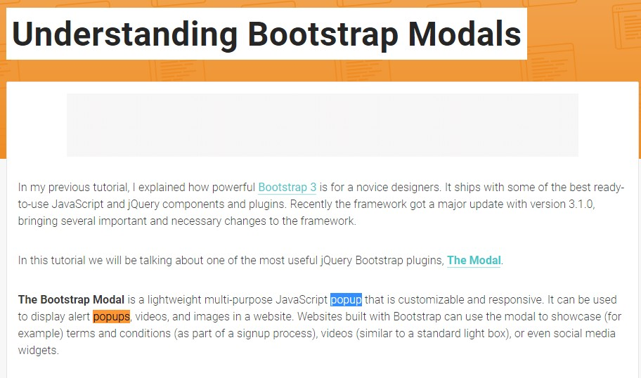 Another useful article about Bootstrap Modal Popup