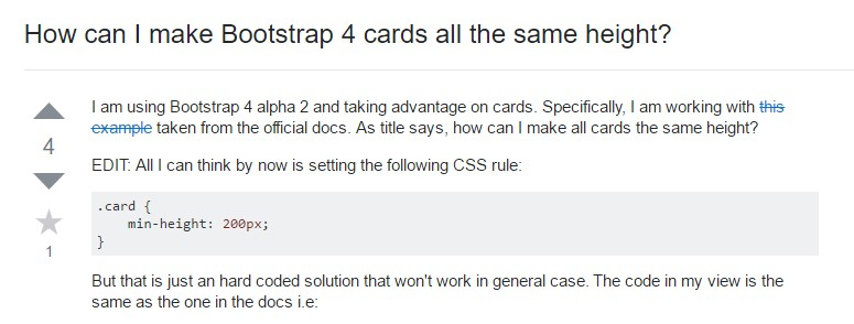 Insights on how can we form Bootstrap 4 cards just the same  height?