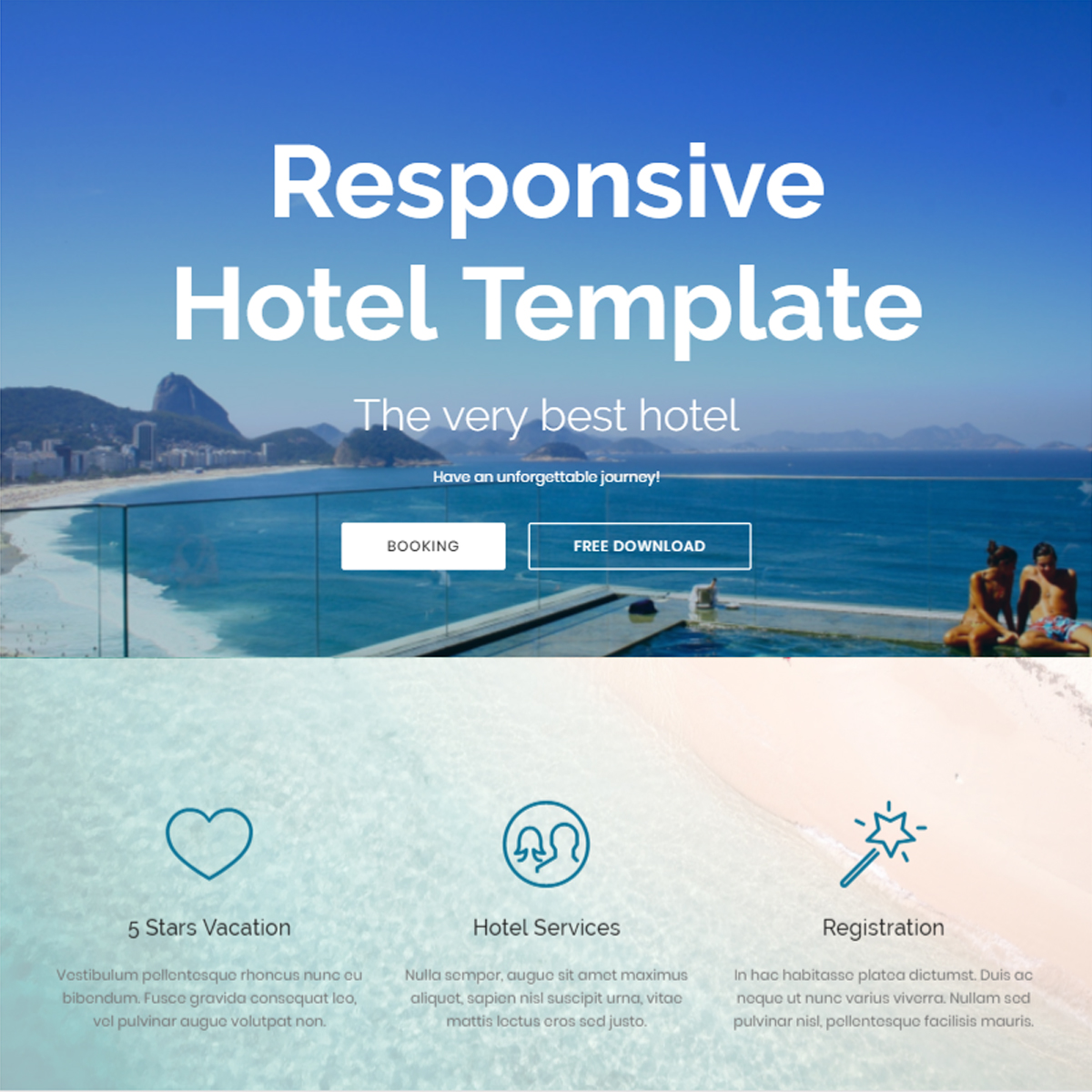 CSS3 Bootstrap Hotel Templates