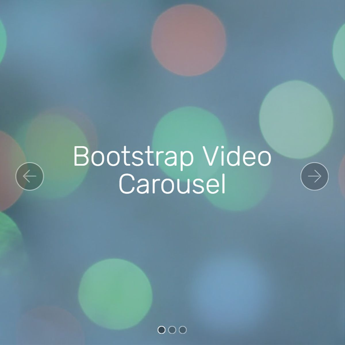 HTML Bootstrap Picture Carousel